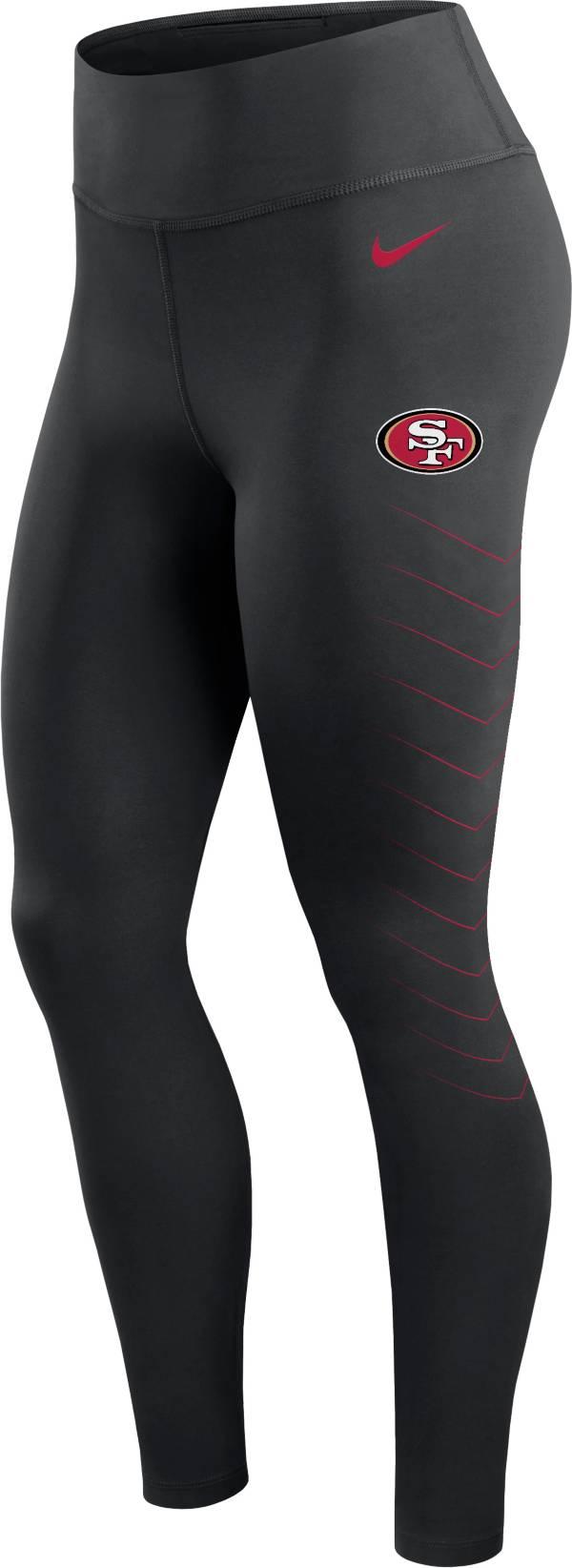 Nike Women's San Francisco 49ers Dri-FIT Black Performance Leggings product image