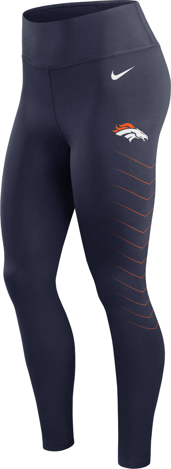 Nike Women's Denver Broncos Dri-FIT Navy Performance Leggings product image