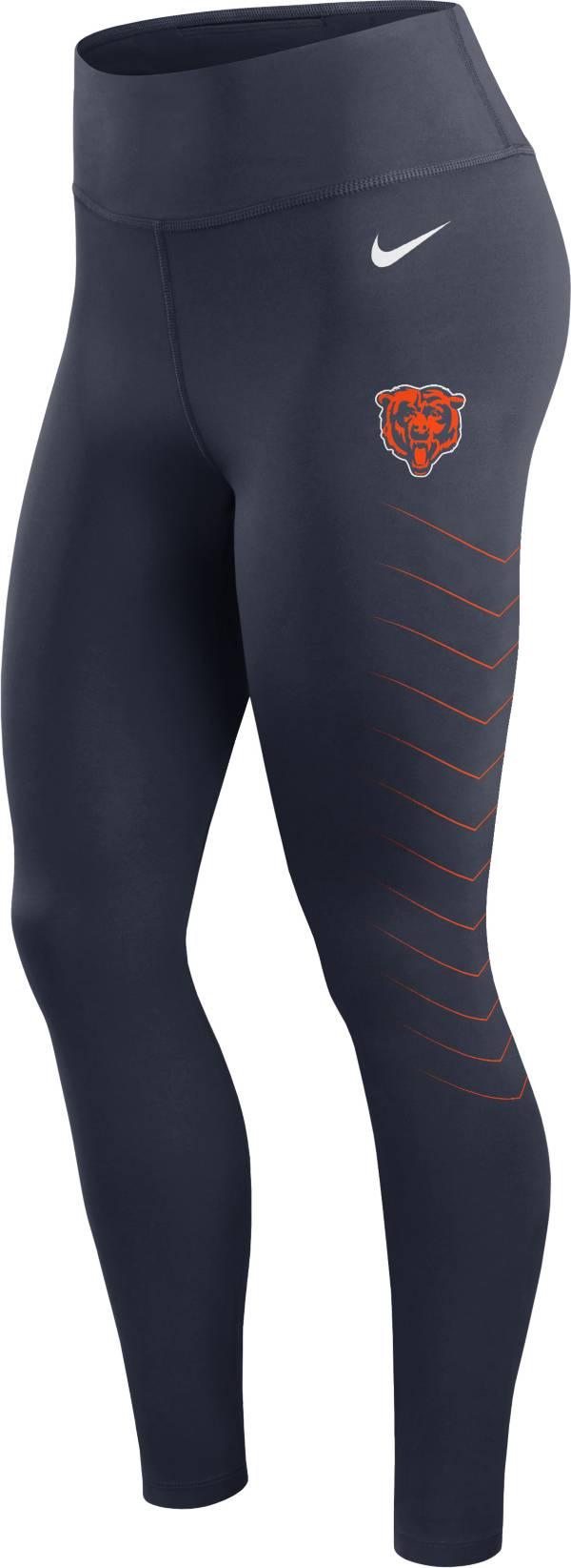 Nike Women's Chicago Bears Dri-FIT Navy Performance Leggings product image