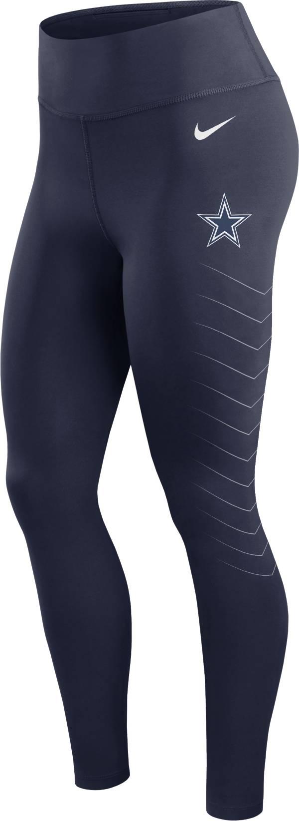 Nike Women's Dallas Cowboys Dri-FIT Navy Performance Leggings product image