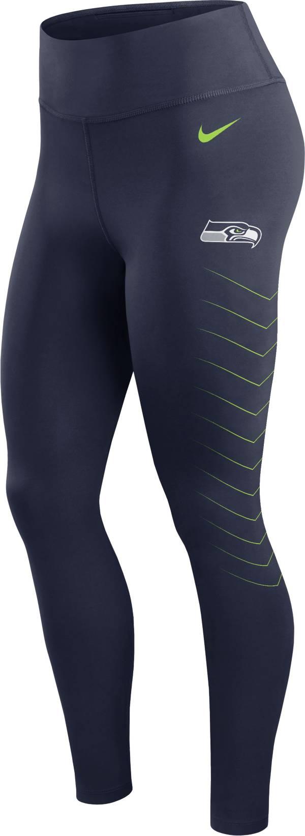 Nike Women's Seattle Seahawks Dri-FIT Navy Performance Leggings product image