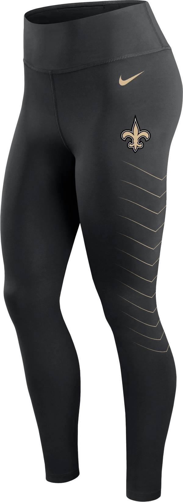 Nike Women's New Orleans Saints Dri-FIT Black Performance Leggings product image