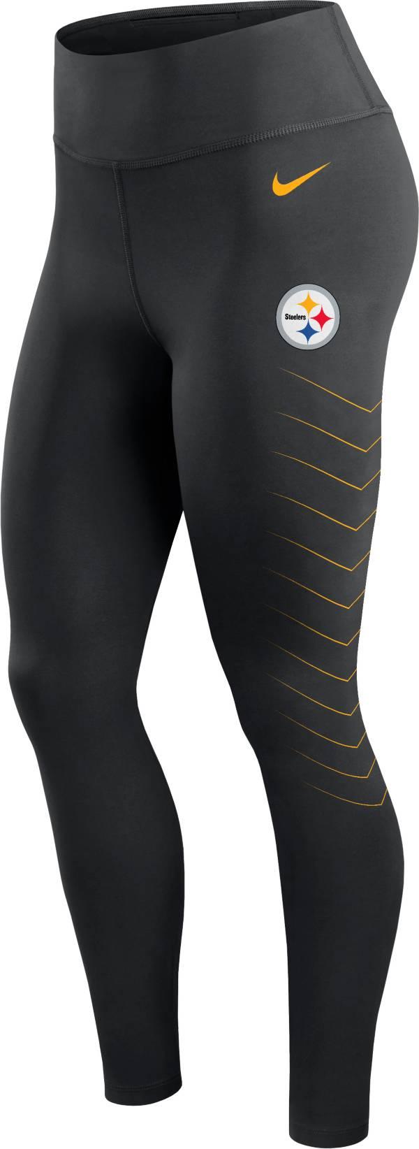 Nike Women's Pittsburgh Steelers Dri-FIT Black Performance Leggings product image