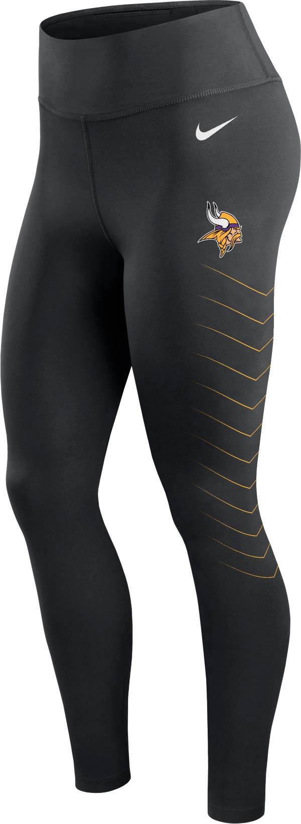 Nike Women's Minnesota Vikings Dri-FIT Black Performance Leggings product image