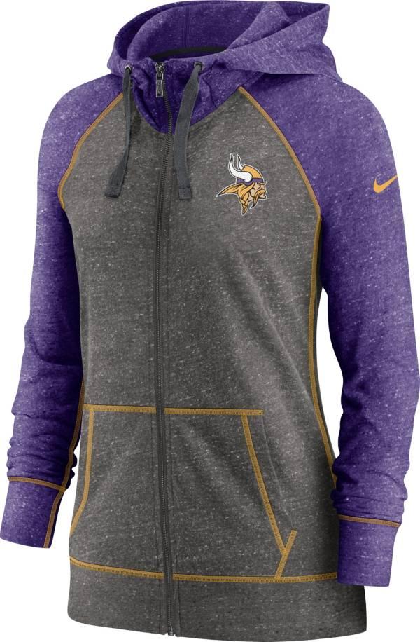 Nike Women's Minnesota Vikings Gym Vintage Club Full-Zip Hoodie product image