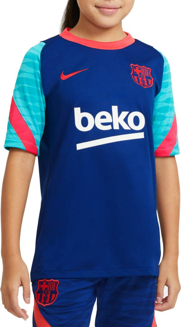 Nike Youth FC Barcelona Royal Prematch Jersey product image