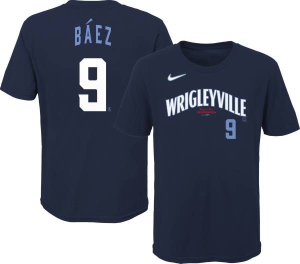 Nike Youth Chicago Cubs Javier Báez #9 Navy 2021 City Connect T-Shirt product image