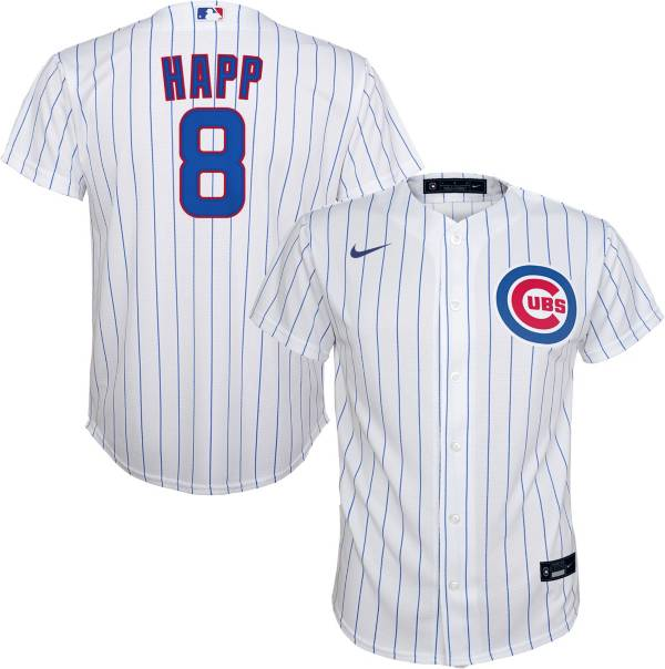 Nike Youth Replica Chicago Cubs James Happ #8 Cool Base White Jersey product image