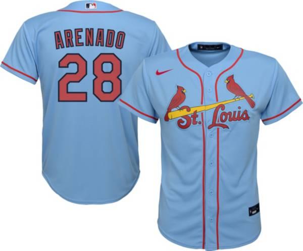 Nike Youth St. Louis Cardinals Nolan Arenado #28 Blue Cool Base Jersey product image