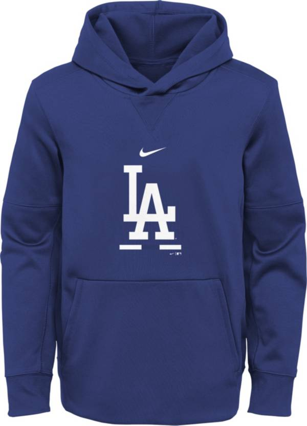 Nike Youth Los Angeles Dodgers Blue Therma Fleece Pullover Hoodie product image