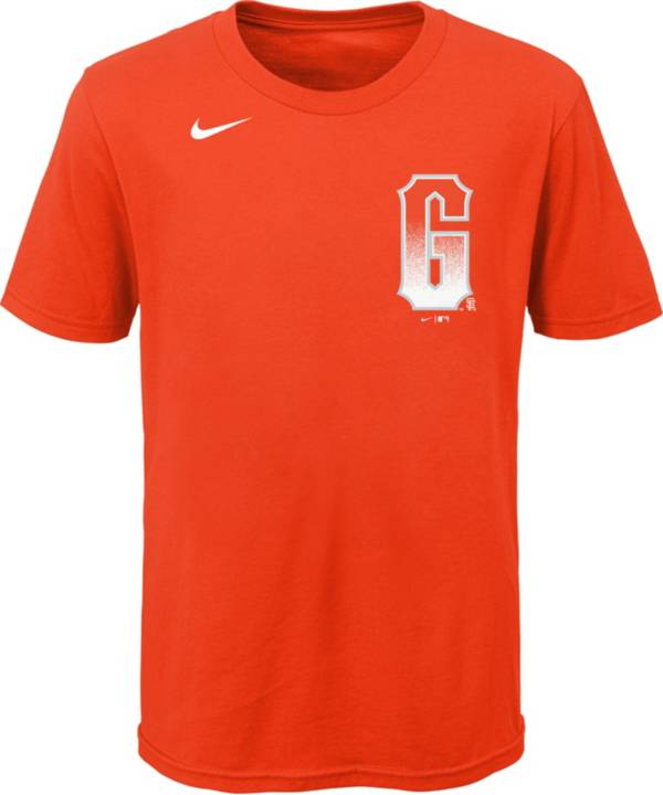 Nike Youth San Francisco Giants Orange 2021 City Connect Wordmark T-Shirt product image