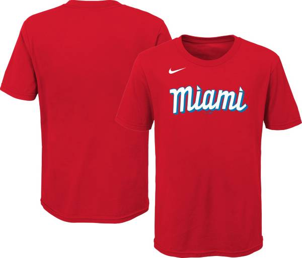 Nike Youth Miami Marlins Red 2021 City Connect T-Shirt product image