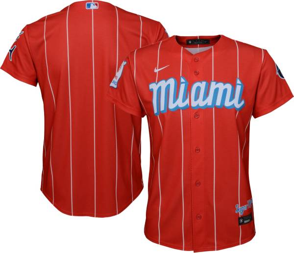 Nike Youth Miami Marlins Red 2021 City Connect Cool Base Jersey product image