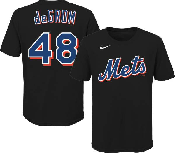 Outerstuff Youth New York Mets Jacob deGrom #48 Black T-Shirt product image