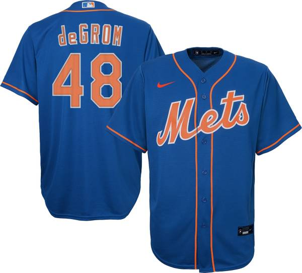 Nike Youth New York Mets Jacob deGrom #48 Blue Cool Base Jersey product image