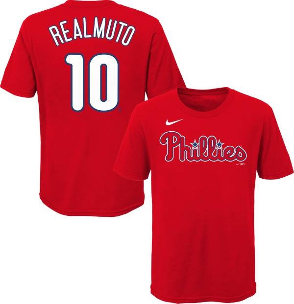 Nike Youth Philadelphia Phillies J.T Realmuto #10 Red Replica Jersey product image