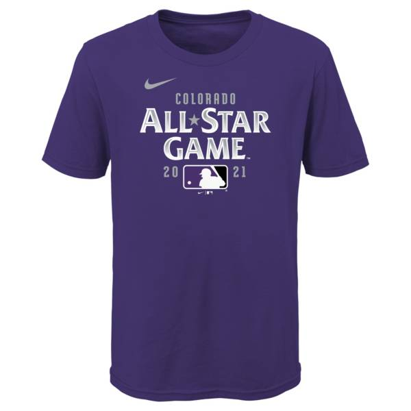 Outerstuff Youth Colorado Rockies Purple 2021 All-Star Game Wordmark T-Shirt product image