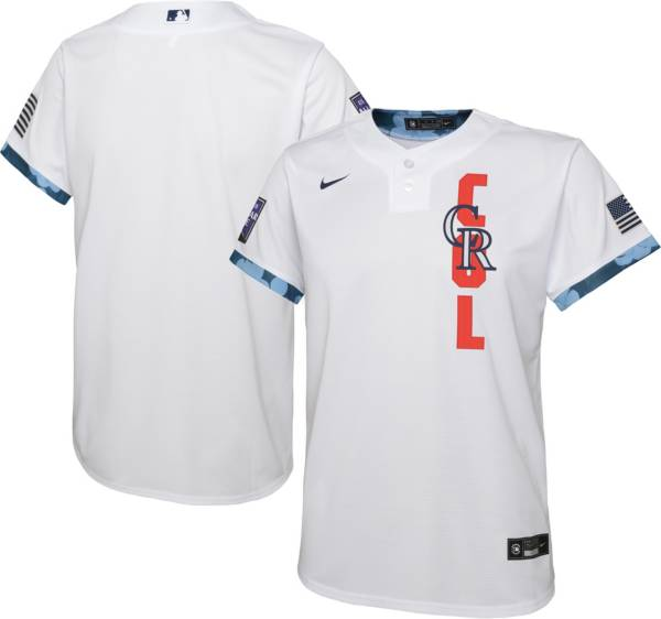 Nike Youth Colorado Rockies White 2021 All-Star Game Cool Base Jersey product image