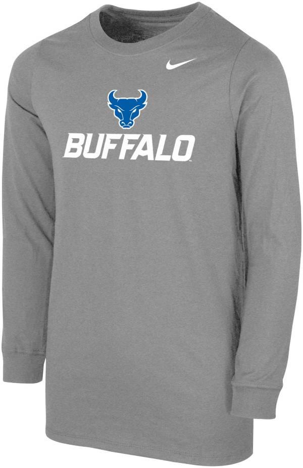 Nike Youth Buffalo Bulls Grey Core Cotton Long Sleeve T-Shirt product image