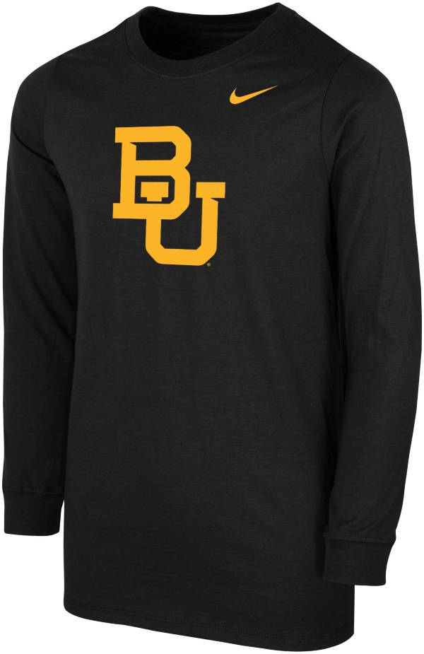 Nike Youth Baylor Bears Core Cotton Long Sleeve Black T-Shirt product image