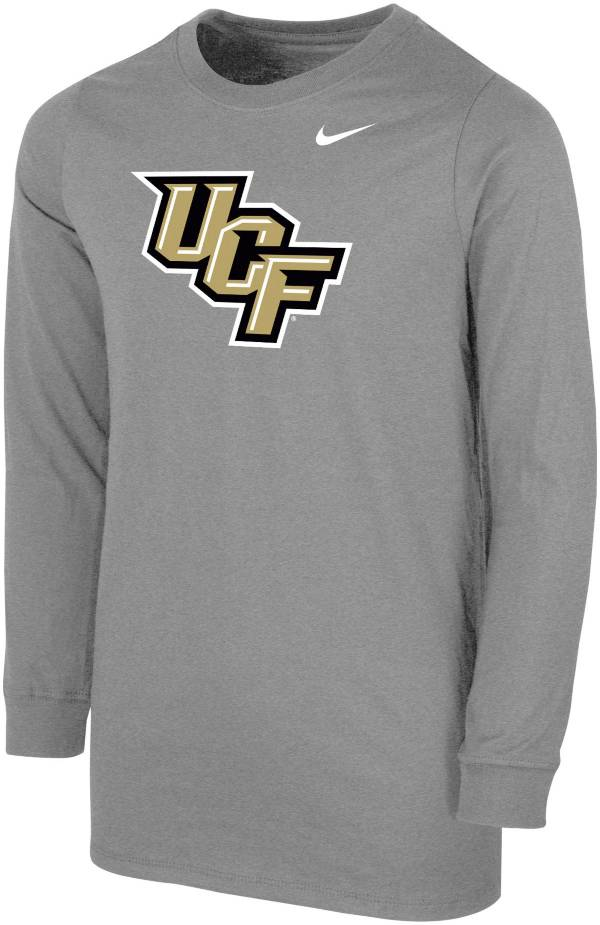 Nike Youth UCF Knights Grey Core Cotton Long Sleeve T-Shirt product image
