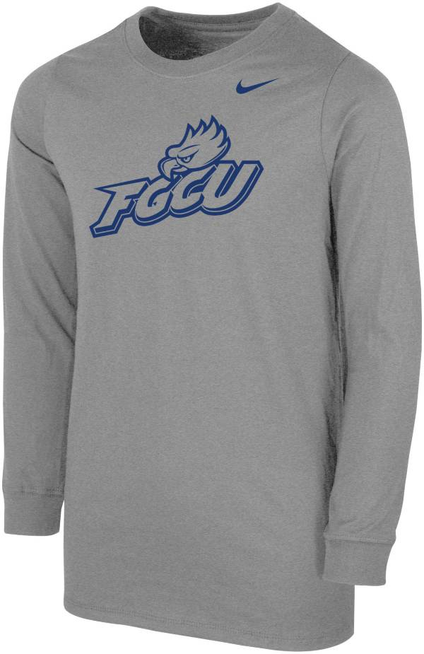 Nike Youth Florida Gulf Coast Eagles Grey Core Cotton Long Sleeve T-Shirt product image