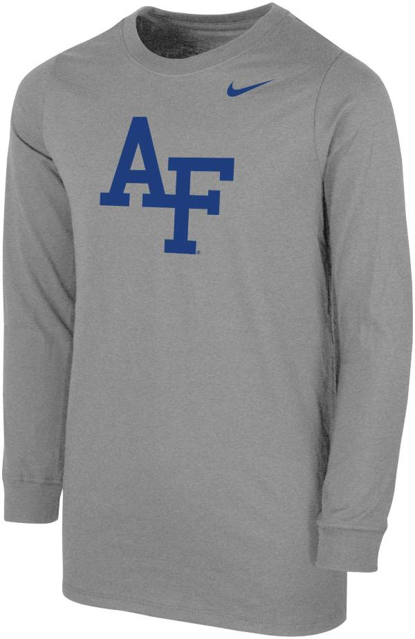 Nike Youth Air Force Falcons Grey Core Cotton Long Sleeve T-Shirt product image