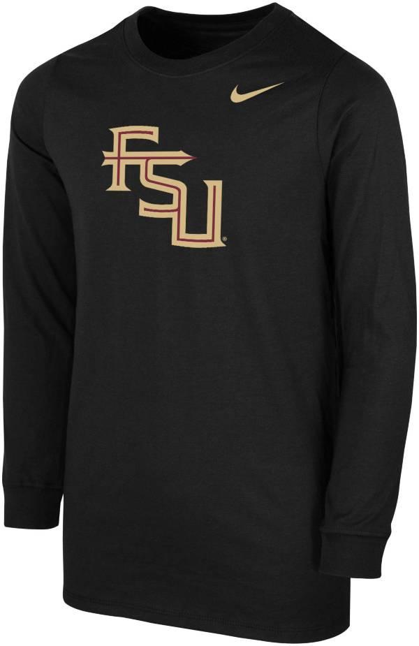 Nike Youth Florida State Seminoles Core Cotton Long Sleeve Black T-Shirt product image