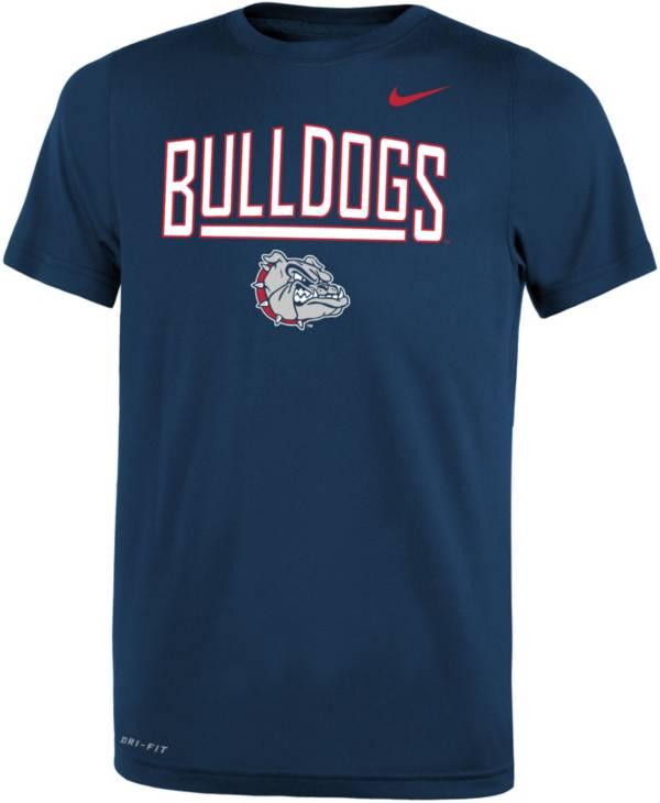 Nike Youth Gonzaga Bulldogs Blue Dri-FIT Legend T-Shirt product image