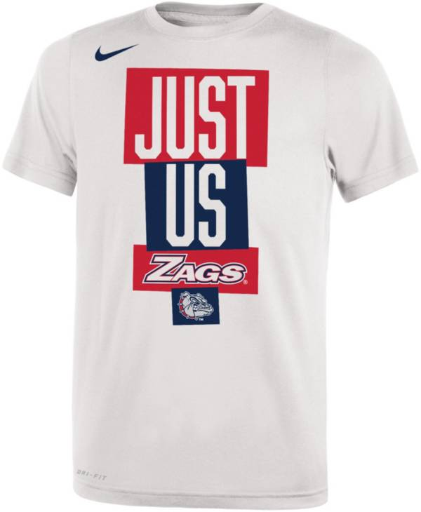 Nike Youth Gonzaga Bulldogs 'Just Us' Bench T-Shirt product image