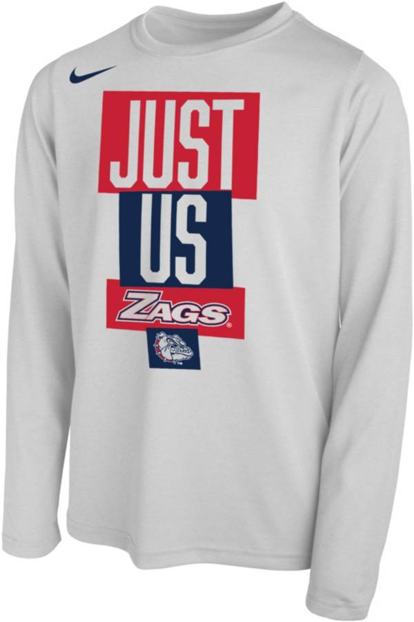 Nike Youth Gonzaga Bulldogs 'Just Us' Bench Long Sleeve T-Shirt product image