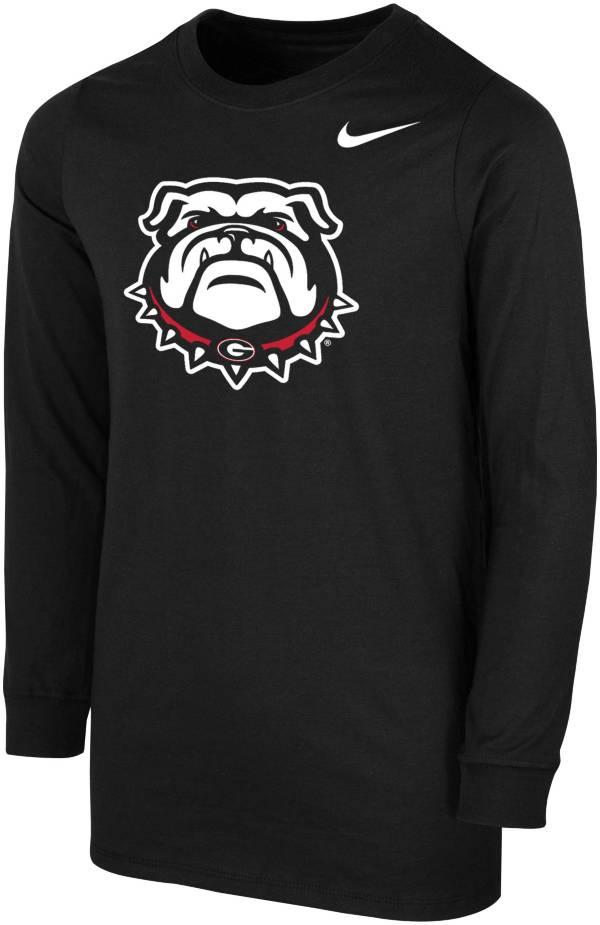 Nike Youth Georgia Bulldogs Core Cotton Long Sleeve Black T-Shirt product image