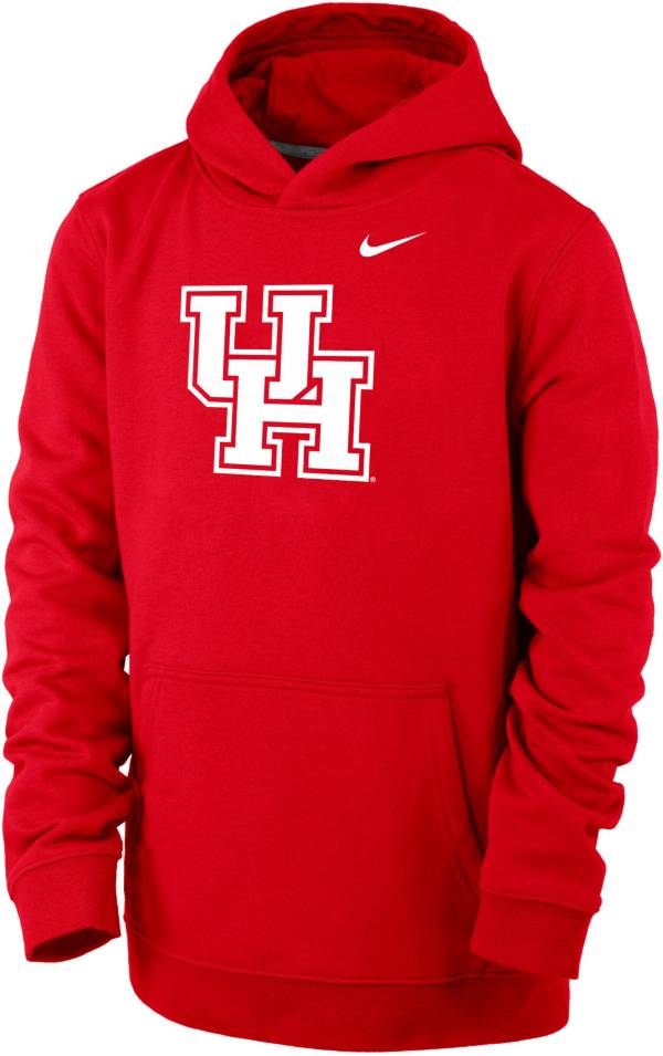 Nike Youth Houston Cougars Red Club Fleece Pullover Hoodie product image