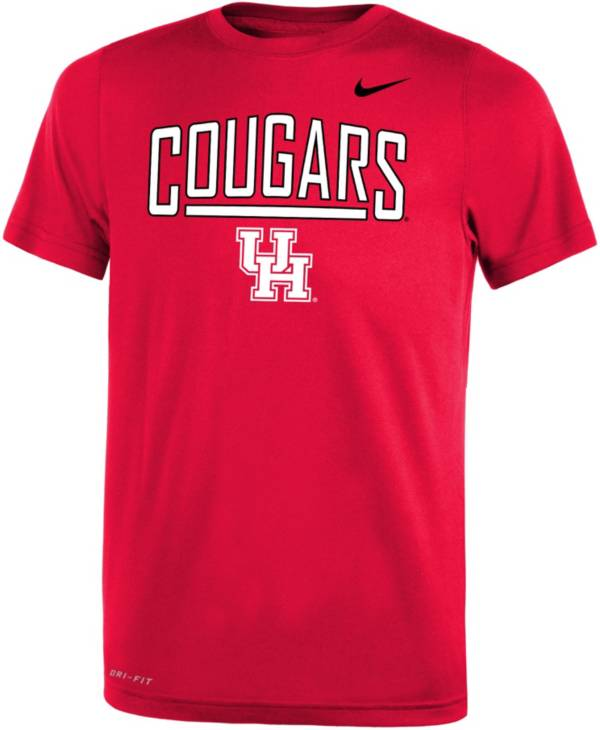 Nike Youth Houston Cougars Red Dri-FIT Legend T-Shirt product image