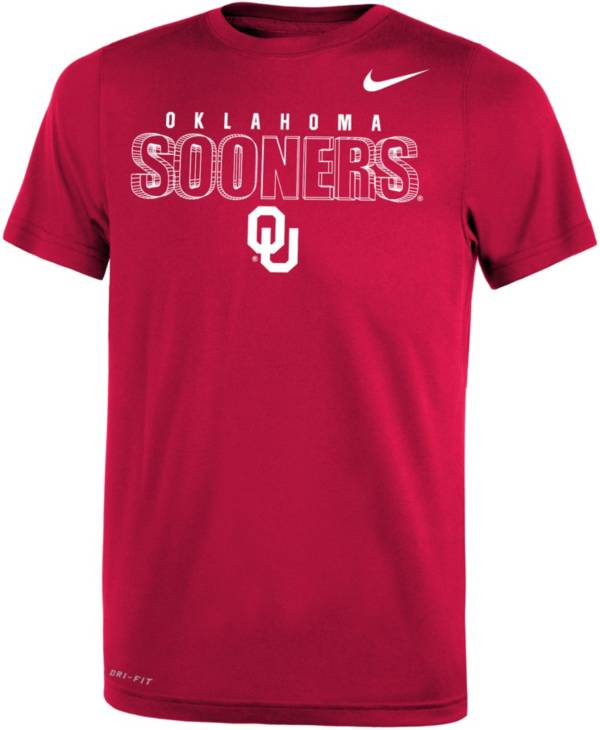 Nike Youth Oklahoma Sooners Crimson Dri-FIT Legend T-Shirt product image