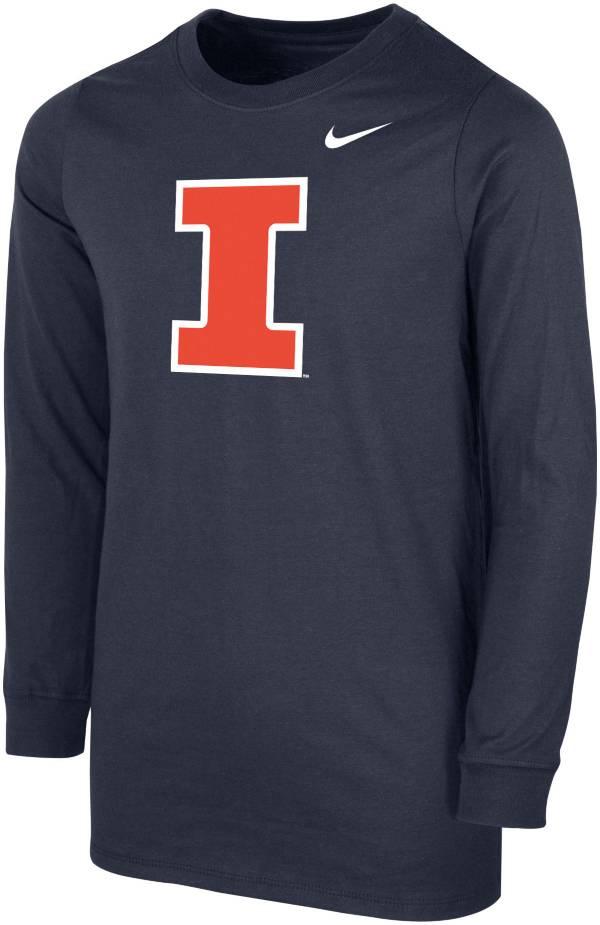 Nike Youth Illinois Fighting Illini Blue Core Cotton Long Sleeve T-Shirt product image