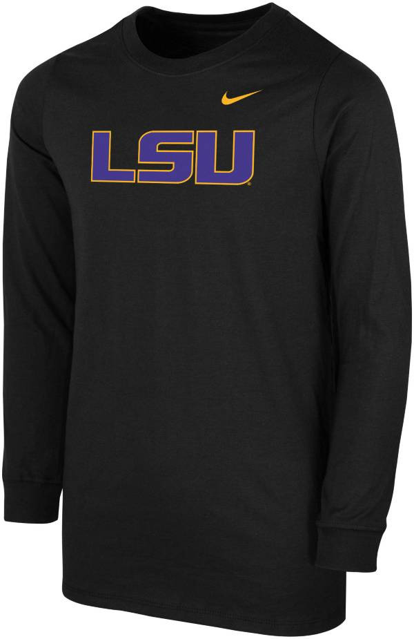 Nike Youth LSU Tigers Core Cotton Long Sleeve Black T-Shirt product image