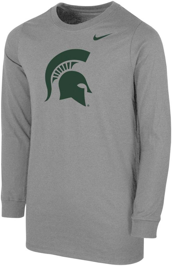 Nike Youth Michigan State Spartans Grey Core Cotton Long Sleeve T-Shirt product image