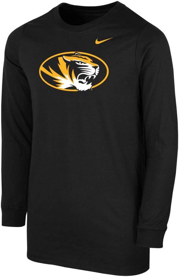 Nike Youth Missouri Tigers Core Cotton Long Sleeve Black T-Shirt product image