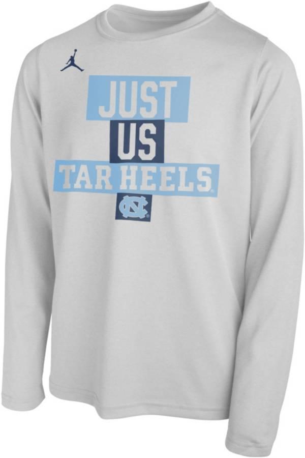 Jordan Youth North Carolina Tar Heels 'Just Us' Bench Long Sleeve T-Shirt product image