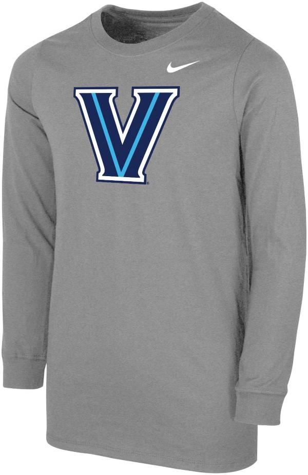 Nike Youth Villanova Wildcats Grey Core Cotton Long Sleeve T-Shirt product image