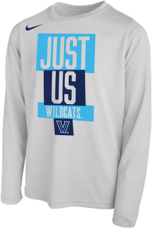 Nike Youth Villanova Wildcats 'Just Us' Bench Long Sleeve T-Shirt product image