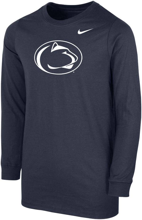 Nike Youth Penn State Nittany Lions Blue Core Cotton Long Sleeve T-Shirt product image