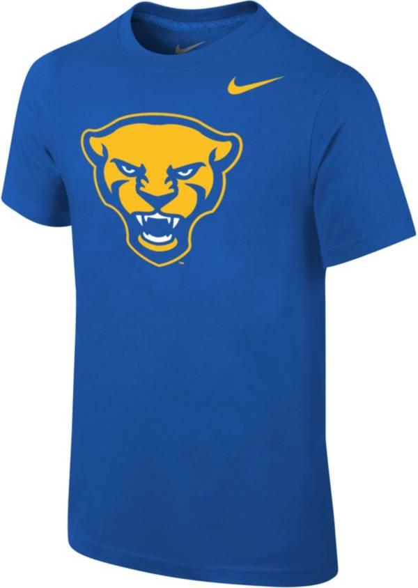 Nike Youth Pitt Panthers Blue Cotton Logo T-Shirt product image