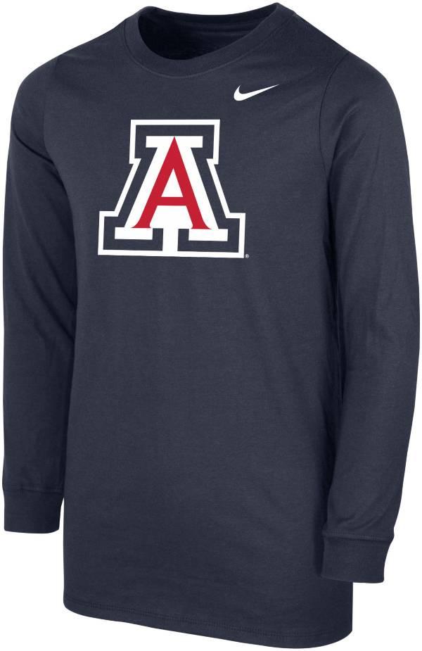 Nike Youth Arizona Wildcats Navy Core Cotton Long Sleeve T-Shirt product image