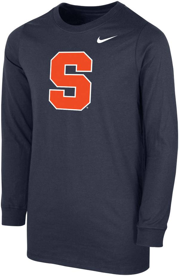 Nike Youth Syracuse Orange Blue Core Cotton Long Sleeve T-Shirt product image