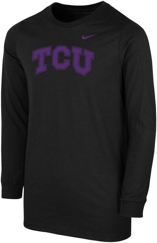Nike Youth TCU Horned Frogs Core Cotton Long Sleeve Black T-Shirt product image