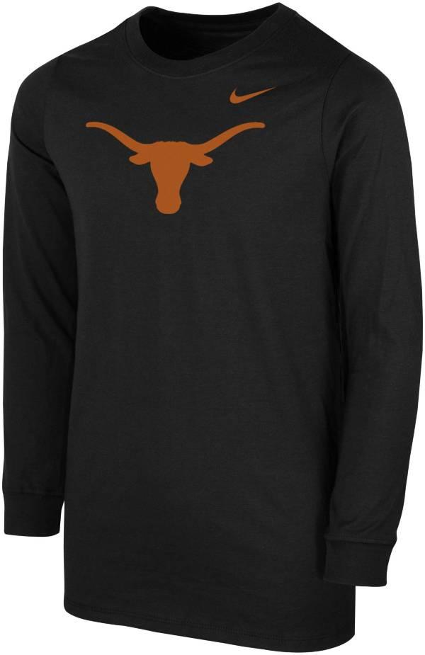 Nike Youth Texas Longhorns Core Cotton Long Sleeve Black T-Shirt product image