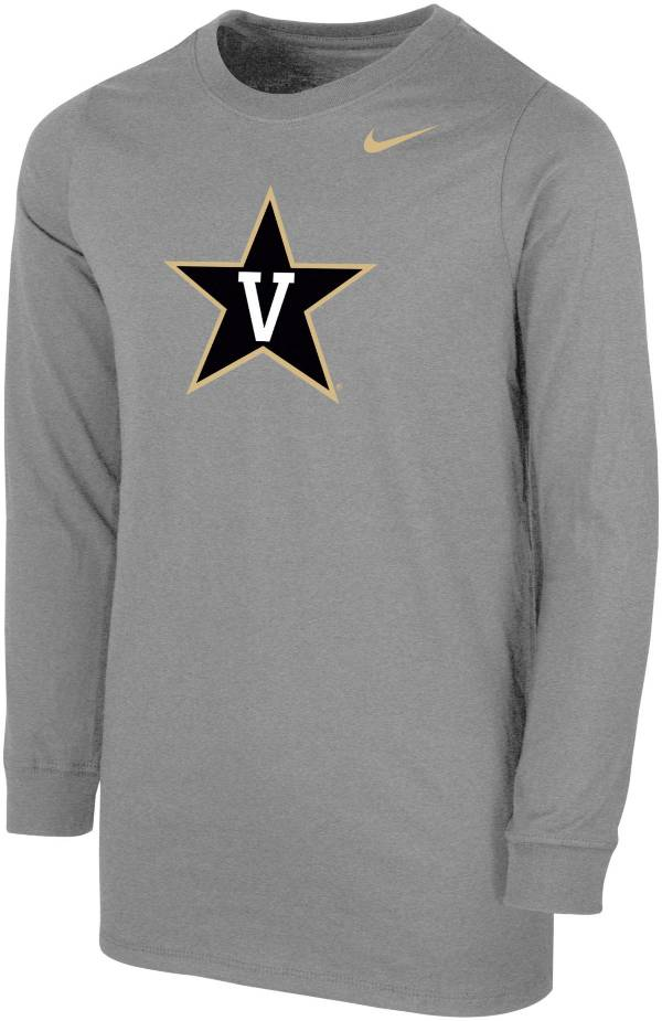 Nike Youth Vanderbilt Commodores Grey Core Cotton Long Sleeve T-Shirt product image