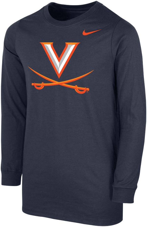 Nike Youth Virginia Cavaliers Blue Core Cotton Long Sleeve T-Shirt product image